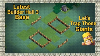 Builder Hall 3 Latest Anti 3 Star Trap Base 2017 | Best BH3 trophy pushing base |Clash of Clans |