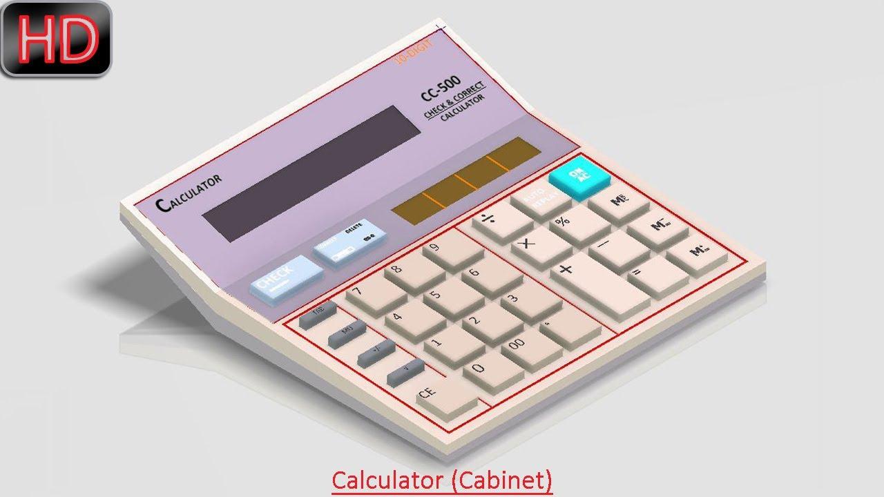 Merveilleux Calculator (Cabinet) (Video Tutorial) Autodesk Inventor