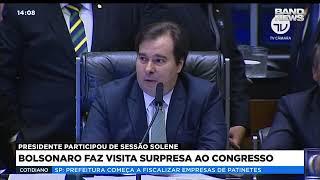 Bolsonaro faz visita surpresa ao Congresso