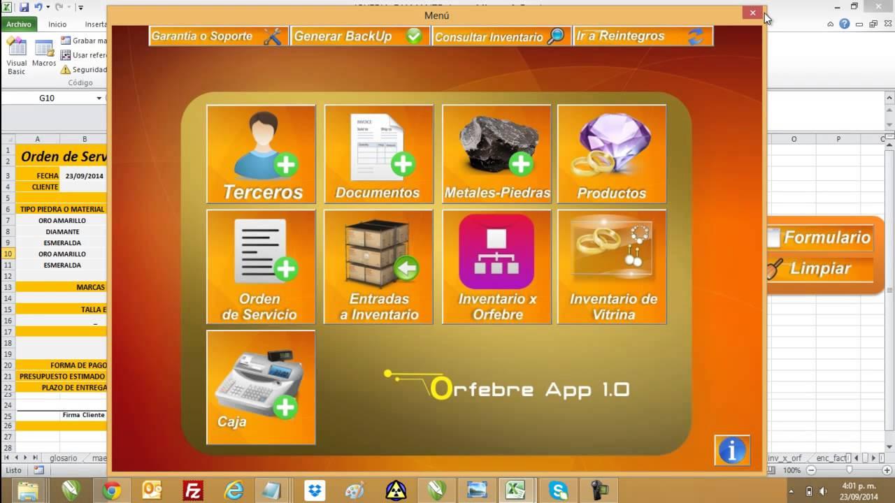 software para joyer237a orfebrer237a excel con macros y