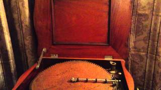 "Regina Music Box 15.5"" Disks playing the Gallop from The Gipsy Baron by Strauss"
