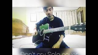 Don't Cry Solo-Guns N' Roses-Acoustic Guitar cover