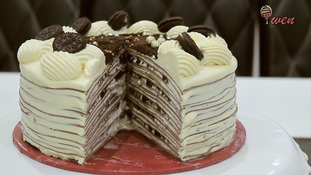 Oreo千层蛋糕 免烤食谱 How To Make Oreo Crepe Cake No Bake