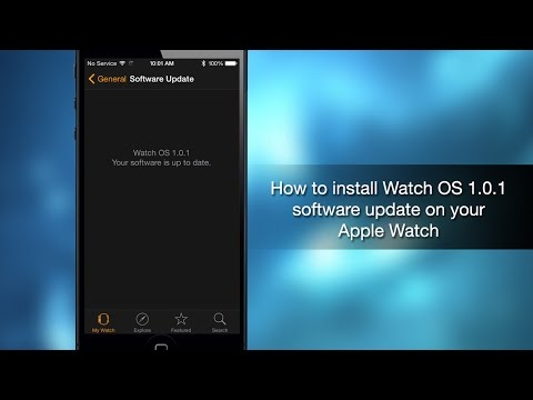 How to install Watch OS 1.0.1 software update on y