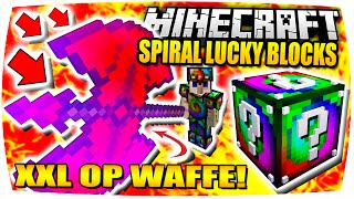 DIE GRÖSSTE OP WAFFE in MINECRAFT! ● Minecraft: Spiral Lucky Block Battle | Nunan