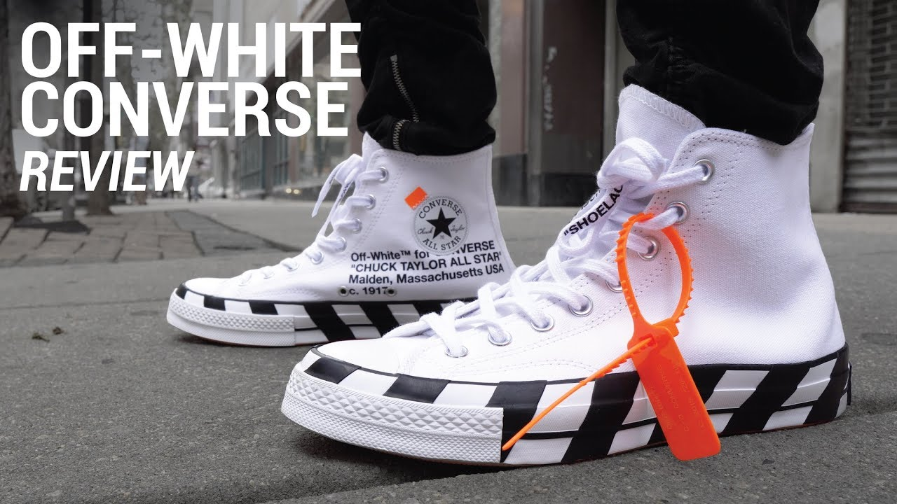 45ca78cbe369 Off White Converse Chuck Taylor Review   On Feet - YouTube