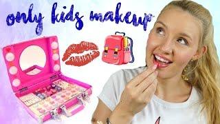 KINDERSCHMINKE IM LIVE TEST! Ganzes Makeup nur damit? GEHT DAS?