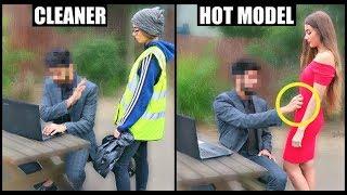 CLEANER vs HOT GIRL Picking Up Guys (SOCIAL EXPERIMENT) PT.3