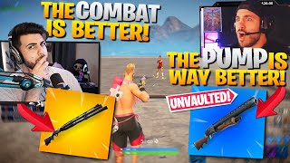 Why I'll ALWAYS Choose The Combat Over The Pump! *UNVAULTED* ft. Nickmercs (Fortnite Battle Royale)