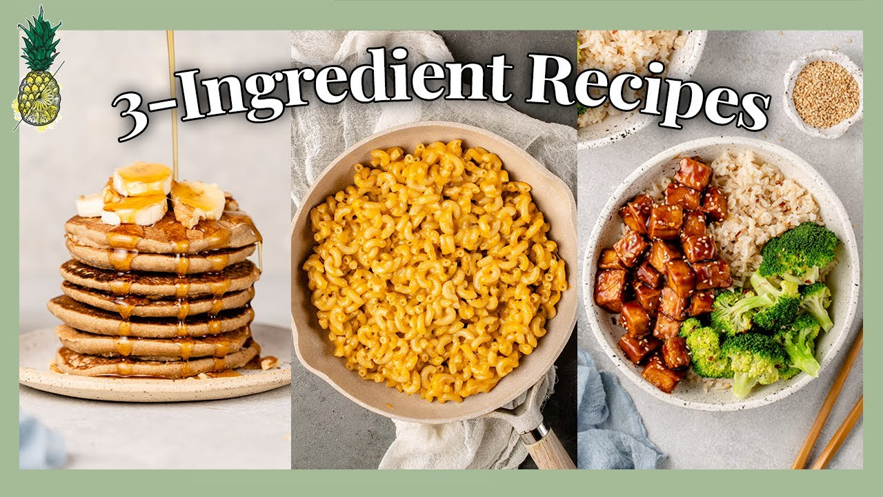 I Only Ate 3-Ingredient Recipes For A Day 😋 (What I Eat In A Day)