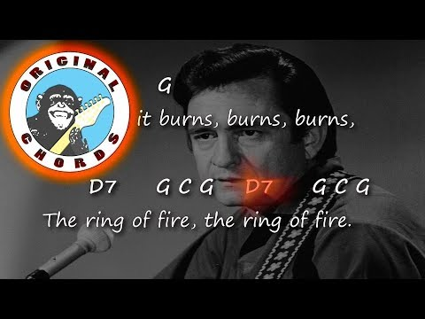 Johnny Cash Ring Of Fire Chords Lyrics Youtube