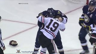 Jonathan Toews vs David Backes Nov 14, 2015