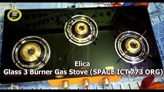 Elica Glass Cooktop 3 burners (SPACE ICT 773 ORG)