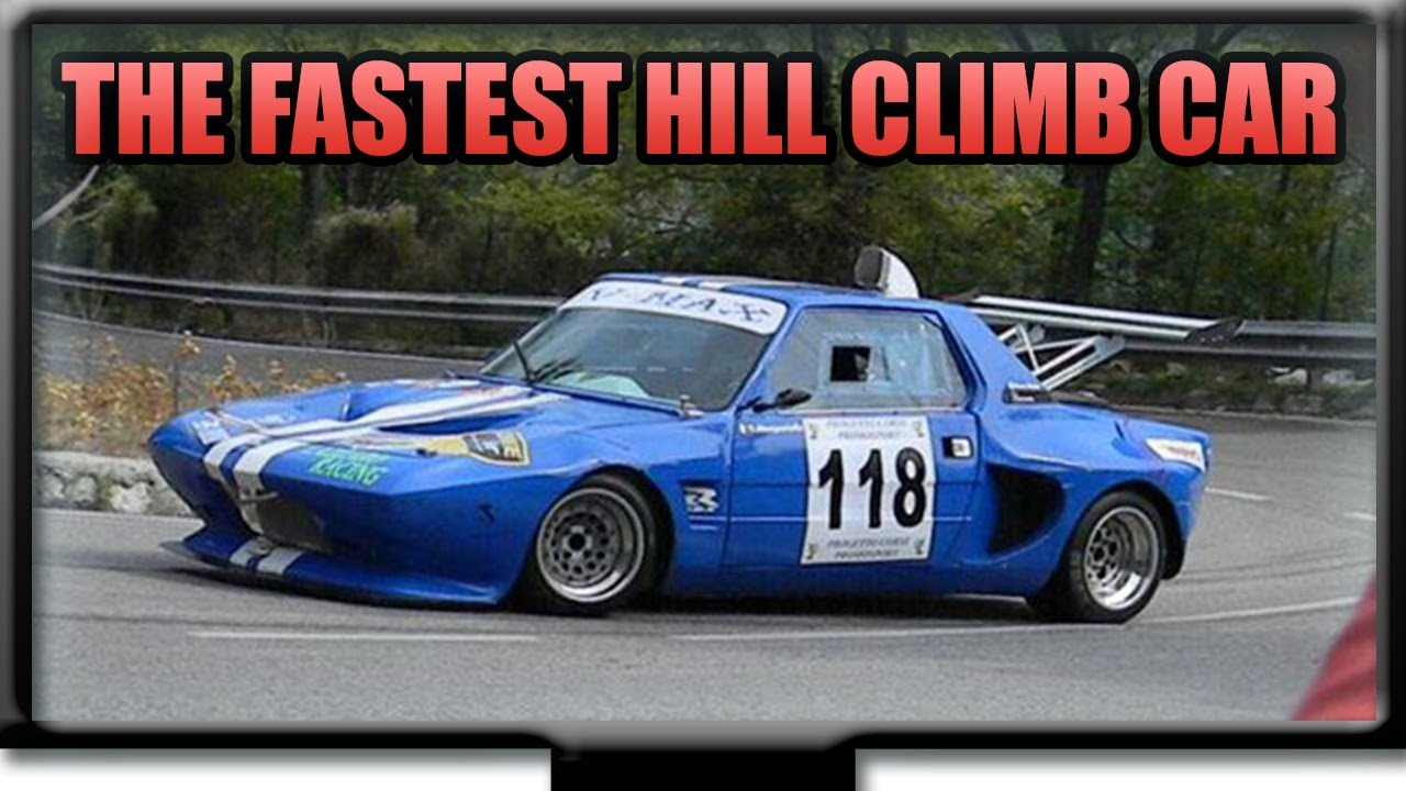 The fastet Hill Climb Car of the World - YouTube