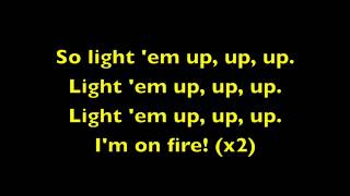 Repeat youtube video Light 'Em Up Fall Out Boy Lyrics)