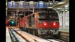 青い森鉄道 EH500形+DF200形 8050レ 二戸駅発車 2020年1月24日