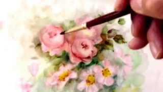 Pastel pintado por Maria de la Luz Pages de Ureña (Ramo de rosas)