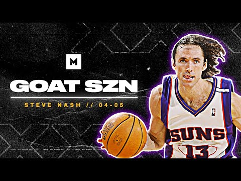 Amazing 30+ min video of Steve Nash's MVP season with the Suns in 04-05 season where he orchestrated a 62-20 season for the Suns from a previous 29–53 season.