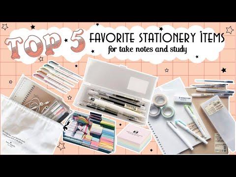 TOP 5 dụng cụ mình yêu thích để take notes và study  ♡ 91diary ♡