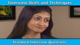 Standard Interview Questions   interview question and answers   successful job interview tips