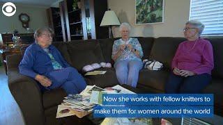 Breast cancer survivor knits for other survivors