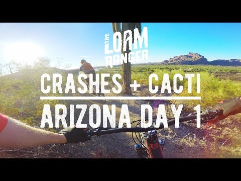 CRASHES AND CACTI // Mountain Biking Hawes In Phoenix