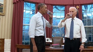 President Obama & Vice President Biden Show Us How They Move
