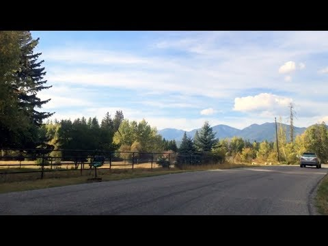Driving From Columbia Falls To Whitefish Montana