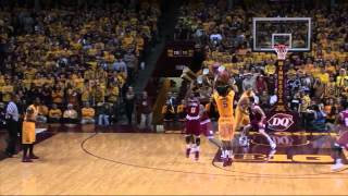 Repeat youtube video Highlights: Gopher Basketball Powers Past Indiana 66-60