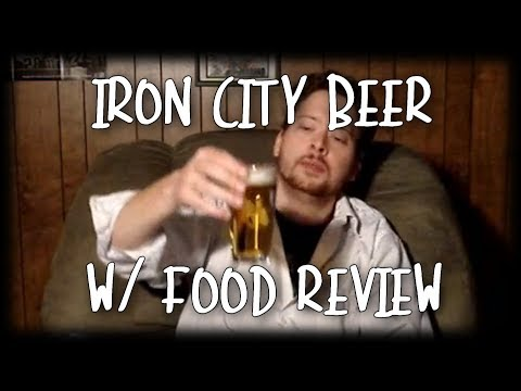 Beer Review with Food - Iron City and Ham BBQ Pittsburgh Style