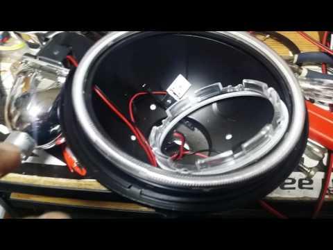 JEEP Custom 7 inch multi Halo Projector LED headlights for Addicticon Jeep JKU