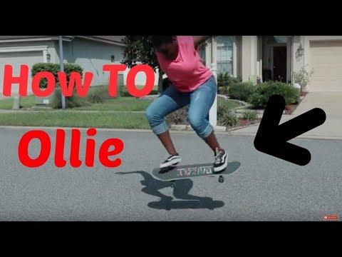 HOW TO OLLIE ON A SKATEBOARD!