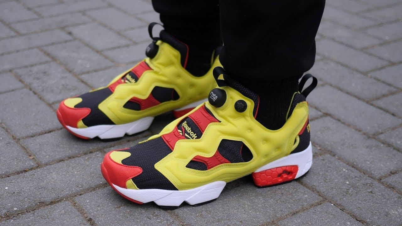 3744438923 Reebok Instapump Fury Prototype OG 'Neon Yellow / Red' (2019) Quick Look &  On Feet