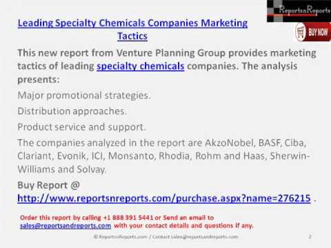 Leading Specialty Chemicals Companies Major promotional strategies