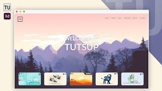 Adobe XD Auto Animate the Website Design - Tutorial For Beginners