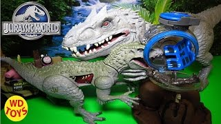 new jurassic world indominus rex vs gyrosphere 2015 unboxing review by wd toys
