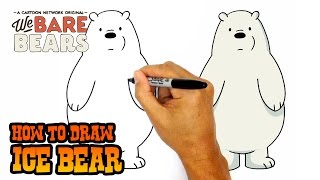 How to Draw Ice Bear | We Bare Bears