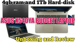 Asus X540ya Budget laptop Unboxing and Review