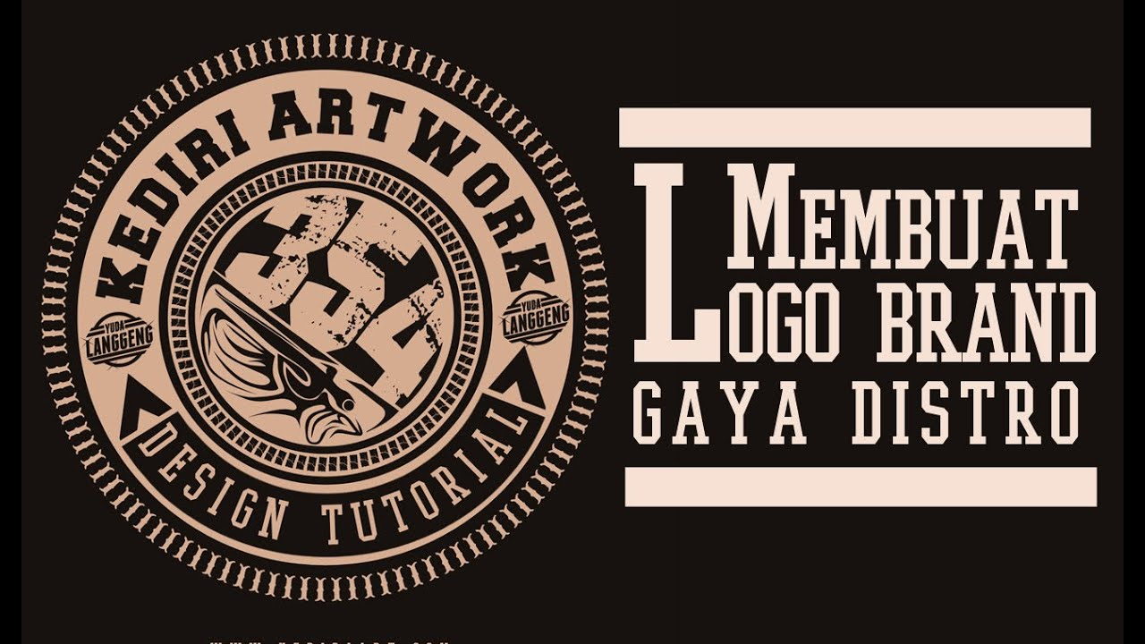 Membuat Logo Brand Distro  Photoshop Tutorial Lengkap