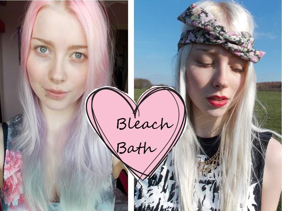Removing hair colour - Bleach Bathing | Hair Tutorial ...