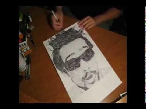 Pen Speed Drawing of MysteryGuitarMan (Joe Penna)