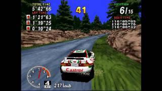 SEGA Rally Championship [Sega Saturn] Arcade Mode