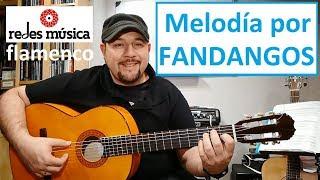 Aprende Fandangos Melodía guitarra tablatura pdf gratis