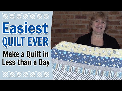 Quilting for Beginners - Easiest Quilt for Beginners Ever (Quilting Tutorial)