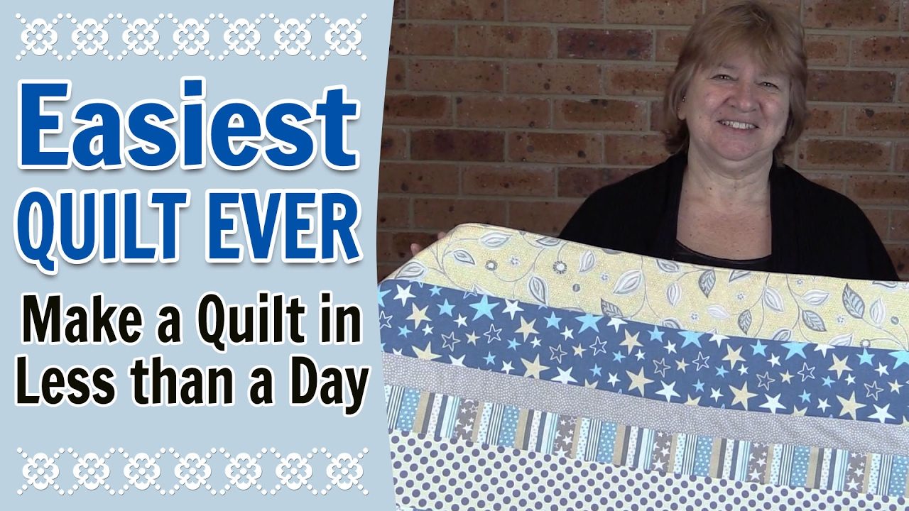 Quilting for Beginners - Easiest Quilt for Beginners Ever ... : quilt making for dummies - Adamdwight.com