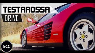 FERRARI TESTAROSSA | Full test drive in top gear | Flat-12 engine sounds | SCC TV
