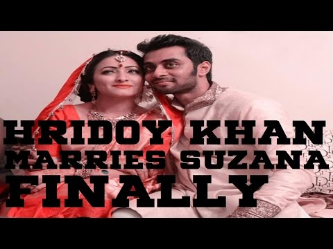 Breaking: Hridoy Khan Suzana Zafar Got Married 1 August 2014!!!