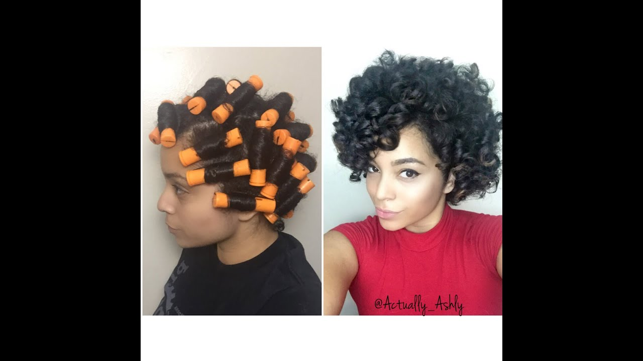 Perm Rod Set On Short Medium Natural Hair