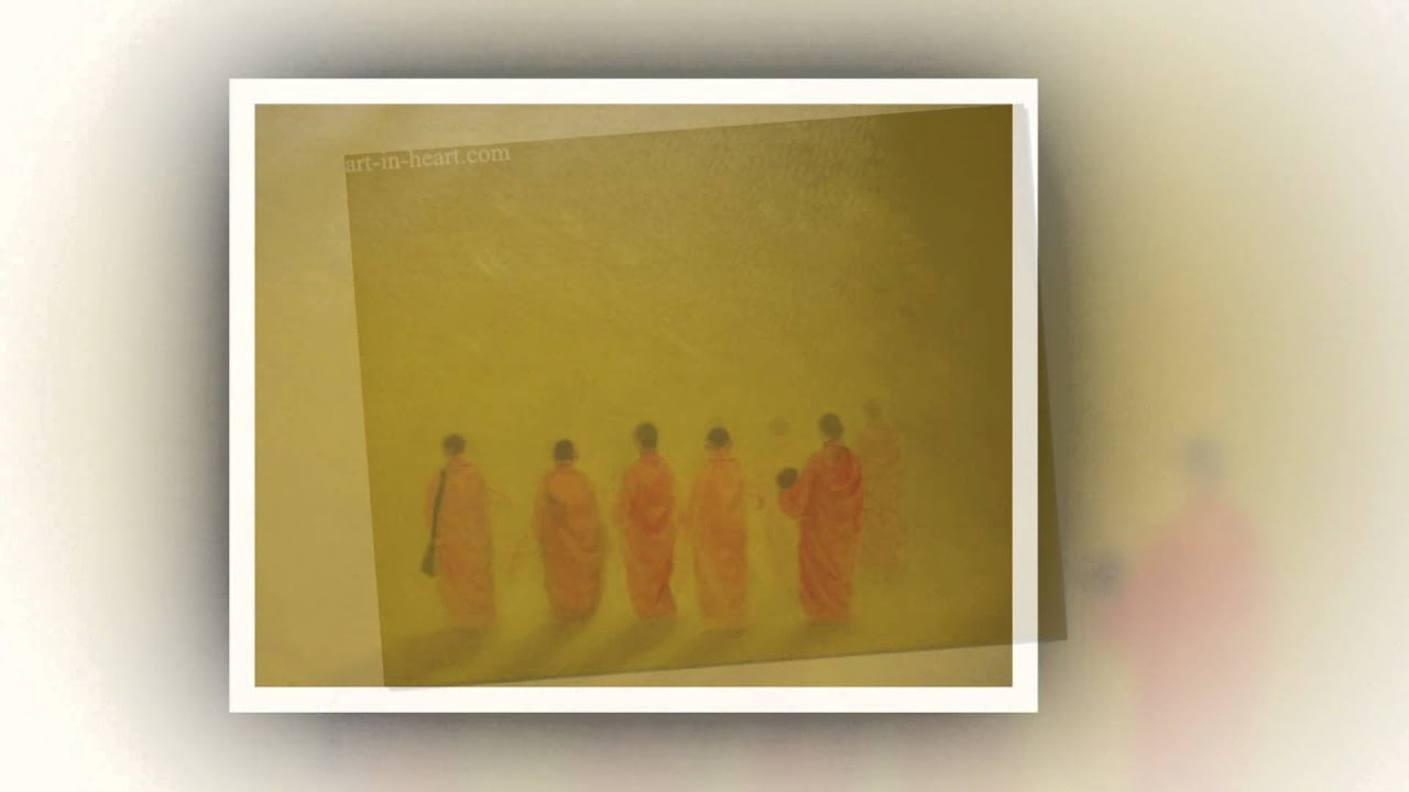 Bass notes-Original oil painting monk by vietnamese artist at ...