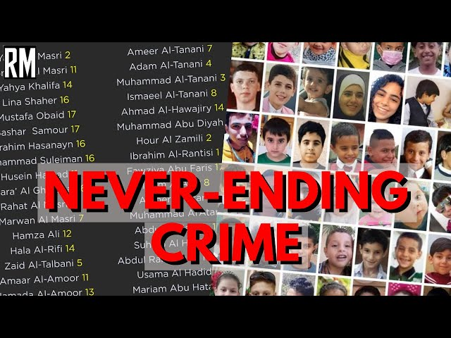 The Never-ending Crimes of israel